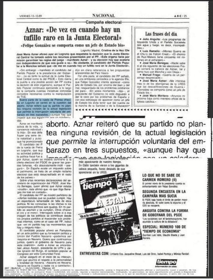 Twitter / AnotacionesRenL: El Partido Popular, con Aznar, ... | Partido Popular, una visión crítica | Scoop.it