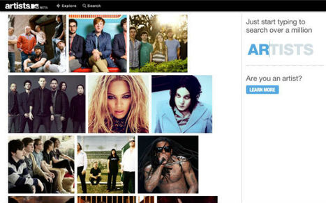 Discover Artists And Bands With This New Music Platform: Artists.MTV | Curaduria de contenidos - Content curation | Scoop.it