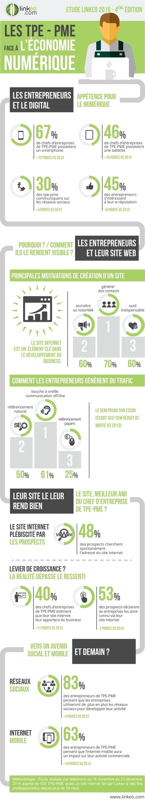 Infographie | Les TPE-PME face à l'économie numérique | Conseils et Astuces Numériques pour TPE et PME | Scoop.it