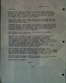Ray Bradbury to Bill Cox (1979) | Pens, Paper, Ink and Letters | Scoop.it