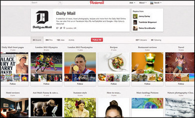 Study: Mail Online gets 2m Pinterest shares | Media news | Journalism.co.uk | Pinterest | Scoop.it