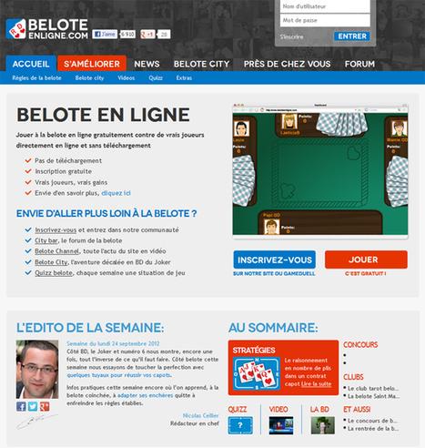 Tout sur la Belote et bien plus sur Beloteenligne.com - Capcampus   La belote   Scoop.it