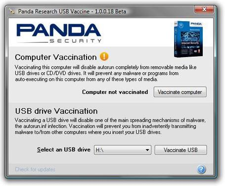 ANTIMALWARE: Panda USB Vaccine | formation 2.0 | Scoop.it
