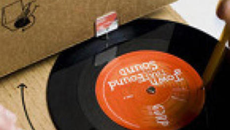 Cardboard Record Sleeve Turns Into Record Player | Professionally Young | Scoop.it