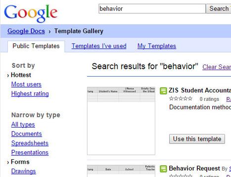 Behavior Data Google Forms' Templates | Data Management for SEL | Scoop.it