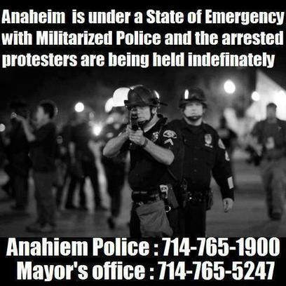 #Anaheim is in a de facto state of emergency. | Facebook  #NDAA | Criminal Justice in America | Scoop.it