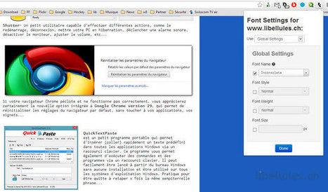 Font Changer with Google Web Fonts - pour changer la police d'un site web rapidement | web et design | Scoop.it