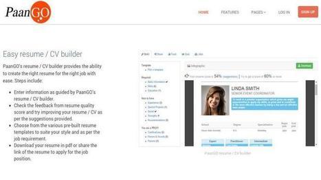 PaanGO: Creación de Currículum Vitae como infografías | Herramientas TIC para el aula | Scoop.it