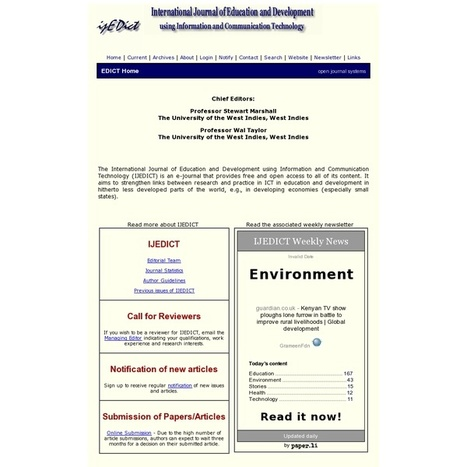 International Journal of Education and Development using ICT | Studying Teaching and Learning | Scoop.it