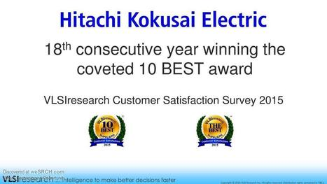 Hitachi Kokusai Electric's 18th consecutive year winning the coveted 10 BEST award, Electronics | wesrch | Scoop.it