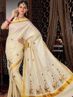 Kerala Cotton Sarees | Velcro Readymade Dhotis Online | Scoop.it