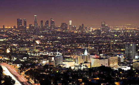 Night Los Angeles. Wallpapers cities for the tablet. Los Angeles, USA, California, metropolis. | CityWallpaperHD | Scoop.it