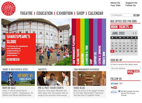 Shakespeare's Globe, Information & Transactional site for an ionic tourist and entertainment destination | Digital Portfolio by Small Back Room | Scoop.it