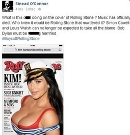 Sinead O'Connor slams Rolling Stone's Kim Kardashian cover | Daily News Reads | Scoop.it