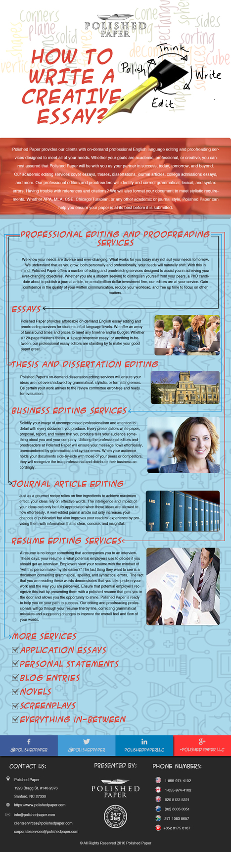 How to write a creative essay? | Academic Editing Service | Scoop.it