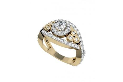 Delicate Diamond Engagement Ring | Diamond Jewellery India | Scoop.it
