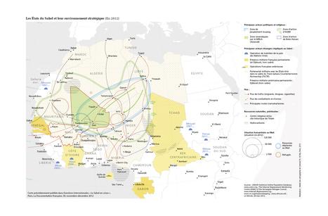 La carte des enjeux stratégiques de la région du Sahel | Le Sahel, un espace instable | Scoop.it