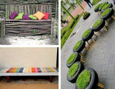 15 ideas de bricolaje para fabricar un banco pa for Bricolaje de jardin