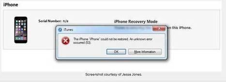 Erreur 53 et iPhone : l'argument de la sécurité ne tient pas | Apple | Apple, Mac, MacOS, iOS4, iPad, iPhone and (in)security... | Scoop.it