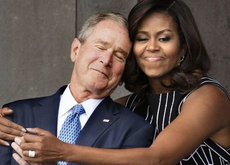 Michelle Obama's Embrace Of Feckless War Criminal George Bush Is The Blackest Thing That Ever Happened Last Week | VSB | color conversations | Scoop.it