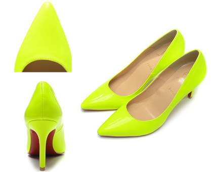 Christian Louboutin Pigalle 80mm Red Sole Yellow Green Patent Leather - Chanel Bags /Christian Louboutin Shoes : Candy Colorful Bags, Chanel Bags ,Chanel Handbag | christian louboutin pumps fashion | Scoop.it