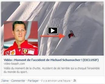 Facebook: une fausse vidéo de l'accident de Michael Schumacher contient un virus informatique | Entrepreneurs du Web | Scoop.it
