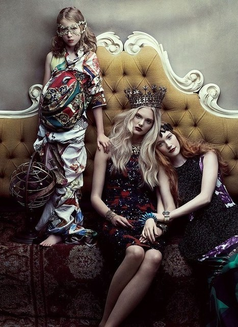 "Artistic fashion story - ""Your Majesty"" in Flare Magazine 