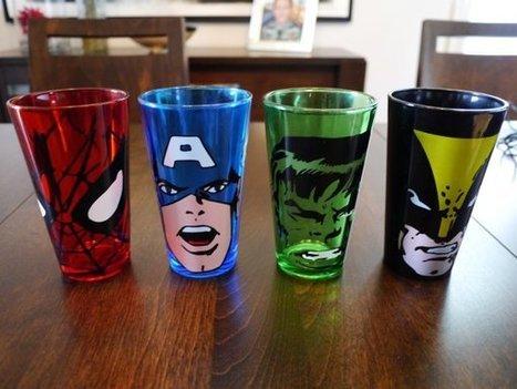 Beautiful Marvel Glass Tumbler Set | All Geeks | Scoop.it