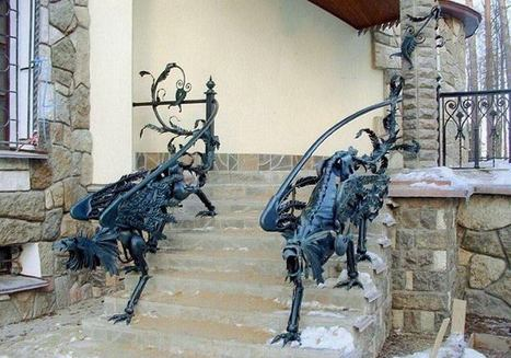 Iron railings in the form of griffins ~ Green Deco | Art | Scoop.it