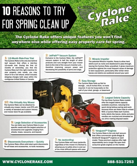Cyclone Rake: 10 Reasons to Try Cyclone Rake for Spring Clean Up | Leaf Cleanup | Scoop.it