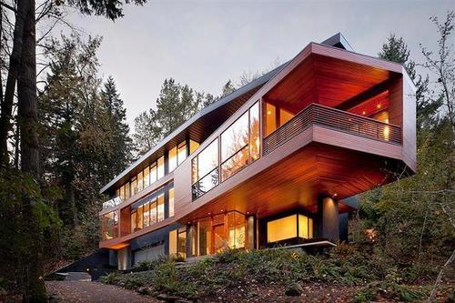 Superbe maison bois contemporaine hoke residence par - Architecture contemporaine residence parks ...