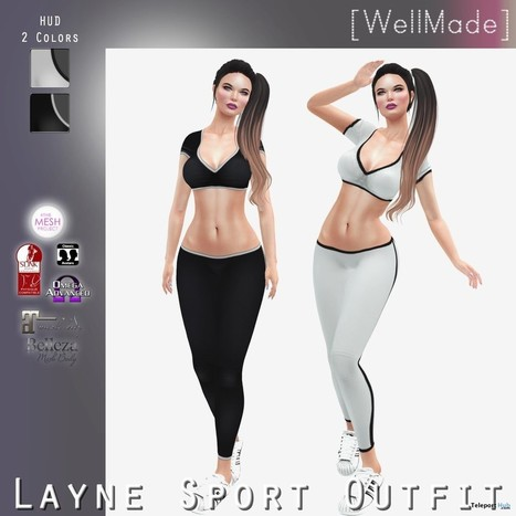 Layne Sport Outfit Group Gift by [WellMade] | Teleport Hub - Second Life Freebies | Second Life Freebies | Scoop.it
