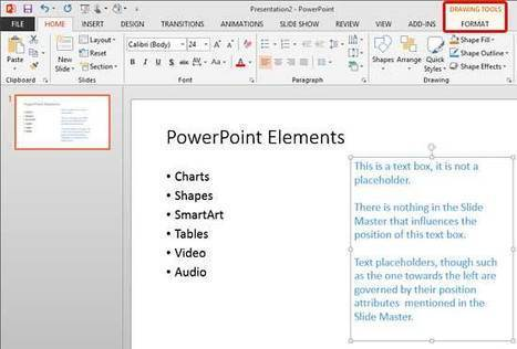 PowerPoint 2013 Tutorials - Reposition Text Boxes Accurately on a Slide | Microsoft PowerPoint Training | Scoop.it