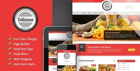 30 temas de WordPress para un restaurante | Apps, Softwares y Web 2.0 | Scoop.it