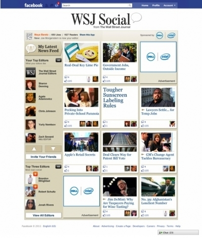 WSJ Facebook edition | World of Social Media | Scoop.it