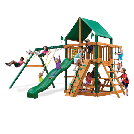 Wooden Swing Sets, Bounce Houses, Children's Furniture, Toy Pianos | Residential Swing Sets For Kids | Scoop.it