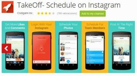 TakeOff: app Android per programmare pubblicazioni su Instagram   my blog   Scoop.it