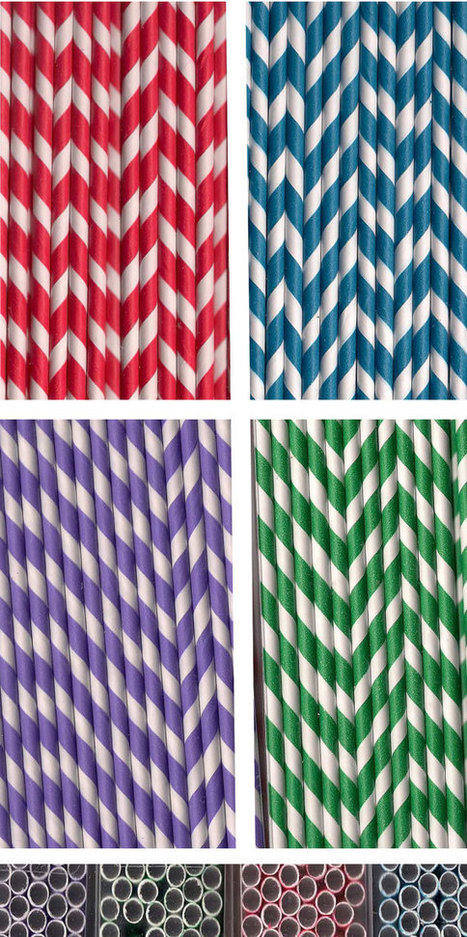 Striped paper straws beverages parties weddings red blue green or purple 48 ct | Candy Buffet Weddings, Events, Food Station Buffets and Tea Parties | Scoop.it