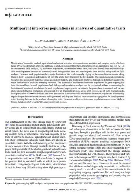 Multiparent intercross populations in analysis of quantitative traits | Plant multi-parent advanced generation intercross (MAGIC) populations | Scoop.it