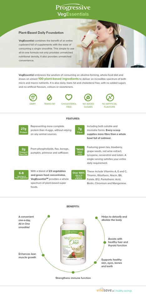 Progressive Vegessentia   Vitasave - Canada's top online vitamin and supplement store   Scoop.it