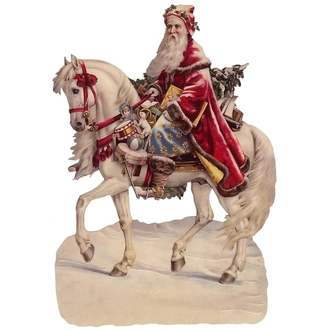 Victorian Santa on His Horse | animals | Scoop.it