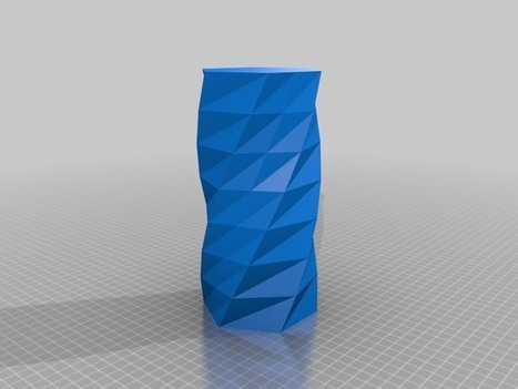 Twisted 6-sided Vase Basic by MaakMijnIdee - Thingiverse | product design | Scoop.it