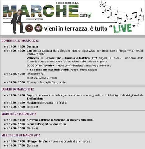 Le Marche at Vinitaly 2012 - Program | Wines and People | Scoop.it