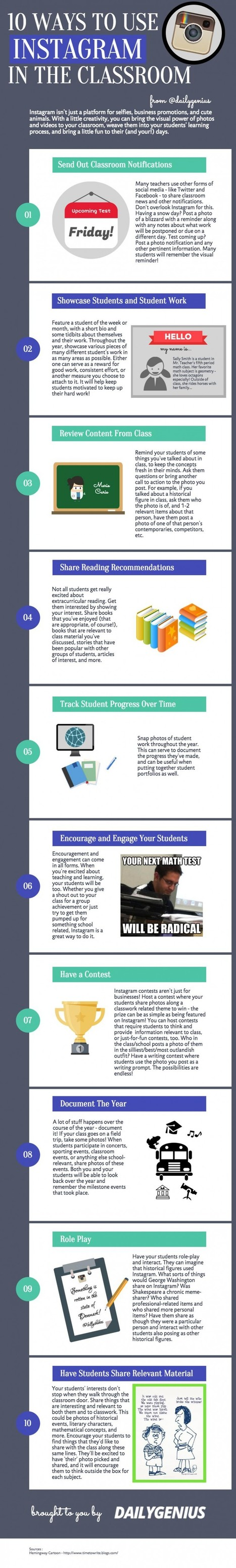 10 maneras de utilizar Instagram en el aula con nuestros estudiantes, recordad que es su red favorita #edchat - Inevery Crea | Pedalogica: educación y TIC | Scoop.it