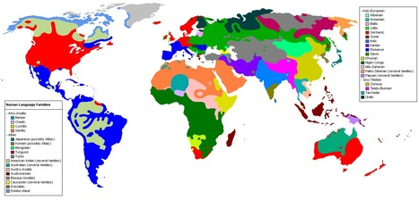 Language Family World Distribution   Geography: People, Places, and Cultures   Scoop.it