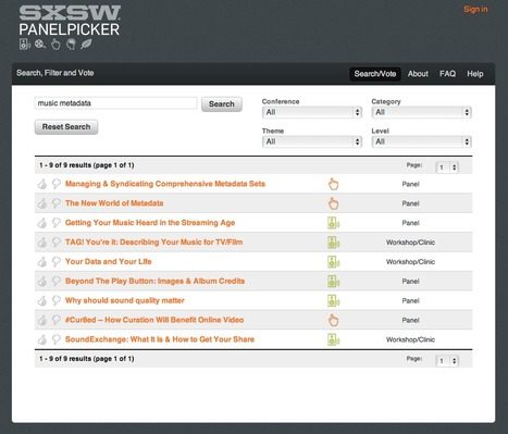 SXSW PanelPicker | Music & Metadata - un enjeu de diversité culturelle | Scoop.it