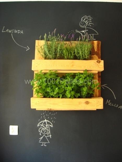 Pallet herb rack | 1001 Pallets | DIY | Scoop.it