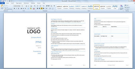 Due Diligence Template for Word 2013 | PowerPoint Presentation | business | Scoop.it