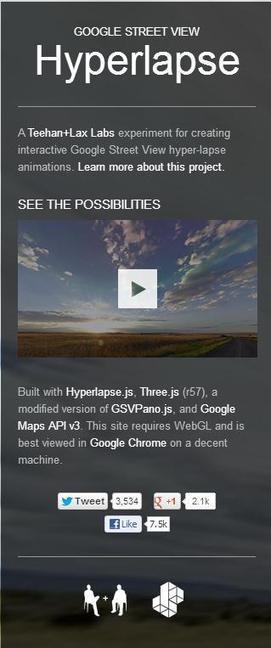 Visualiser en vidéo un parcours sur Google Street View, Hyperlapse | classement interne personnel numérique | Scoop.it