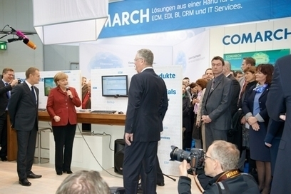 Visite de la chancelière allemande Angela Merkel lors du CEBIT 2013 | Business Intelligence Solution | Scoop.it